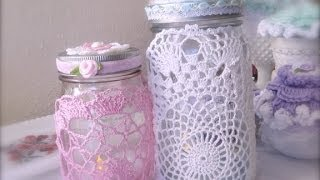 getlinkyoutube.com-Retro Craft: Quick and Easy Doily Decorated Jar