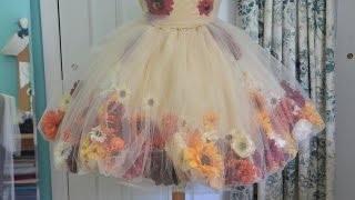 getlinkyoutube.com-Making a Flower Fairy Dress - Part one