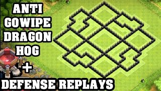 getlinkyoutube.com-Clash of Clans - Town hall 8 (Th8) Trophy Base + Defense REPLAY - ANTi GoWipe ANTi Dragon ANTi Hog