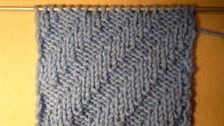 getlinkyoutube.com-ВЯЗАНИЕ СПИЦАМИ ДЛЯ НАЧИНАЮЩИХ,ДИАГОНАЛЬНАЯ РЕЗИНКА! Knitting