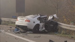getlinkyoutube.com-The horrifying aftermath of a crash that kills 6 after car drives wrong way on German motorway