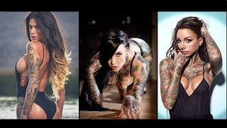 getlinkyoutube.com-Inked Models / Sexy Girls with Tattoos pics compilation !