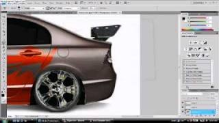 getlinkyoutube.com-Honda Civic Pimped in Adobe Photoshop CS4 (2)