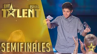 El público se rinde ante los trucos de magia de Manuel   Semifinales 3   Got Talent España 2016