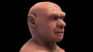 getlinkyoutube.com-Homo neanderthalensis - 3D forensic facial reconstruction