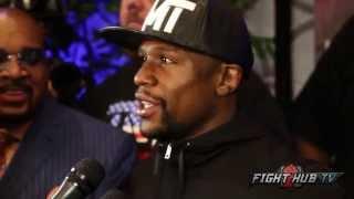 getlinkyoutube.com-Floyd Mayweather says he cant make 160 for Golovkin fight; Talks Cotto vs. Canelo