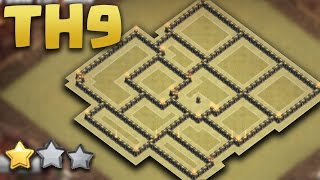getlinkyoutube.com-TOWN HALL 9 NEW WAR BASE (TH9 War AnTi 3 Star ) 2016 + Defence Replays
