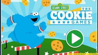 getlinkyoutube.com-Sesame Street The Cookie Games Athlete Cookie Monster & Announcer Grover