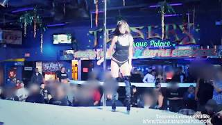 getlinkyoutube.com-Mysterious & Sexy Exotic Dancer wearing Black Shiny Thigh High Fetish Boots
