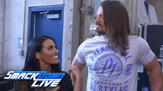 Zelina Vega challenges AJ Styles on behalf of Andrade