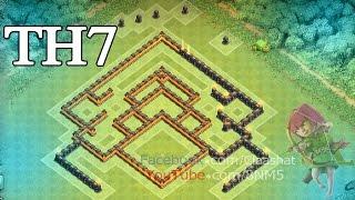 getlinkyoutube.com-Clash of clans Town hall 7 War Base TH7 \ تصميم قاعدة حرب تاون هول 7 مضادة للتنانين