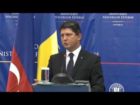Declaraţii comune de presă ale ministrului Titus Corlăţean şi ale omologului azer, Elmar Mammadyarov
