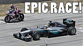 getlinkyoutube.com-LEWIS HAMILTON: F1 CAR vs YAMAHA R1M SUPERBIKE!!