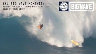 getlinkyoutube.com-Niccolo Porcella Kung Fu Kickout at Jaws -  A WSL Big Wave Awards Moment
