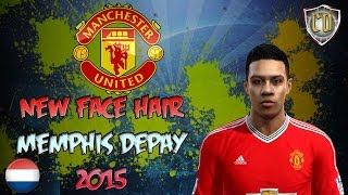 getlinkyoutube.com-NEW FACE & HAIR  MEMPHIS DEPAY + TATTO  2015 [PES 2013] [DOWNLOAD]