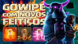 Clash of Clans - GOWIPE DETONANDO CV 10 COM NOVOS FEITIÇOS !