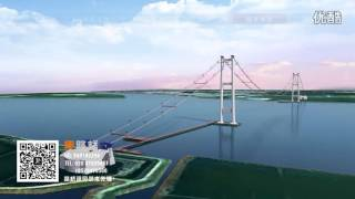 getlinkyoutube.com-Humen 2nd Bridge 1688m span Animation 虎门二桥1688米主跨施工动画