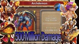 getlinkyoutube.com-Castle Clash How to Get 3 Minute Full Run on Archdemon