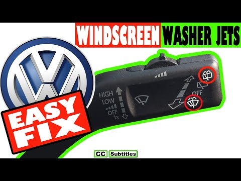 VW Windshield Washer fluid not working diagnose and Fix