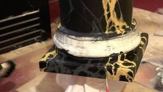 getlinkyoutube.com-Jeff Pollastro Portoro Limestone Pedestal