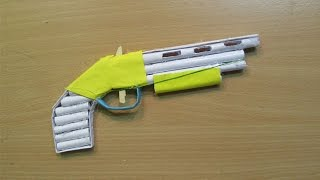 getlinkyoutube.com-How to Make a Paper Gun (1887)that shoots Rubber Bands - Easy Tutorials