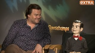 getlinkyoutube.com-Jack Black Talks 'Goosebumps,' Advises Us Not to Call Slappy a Dummy