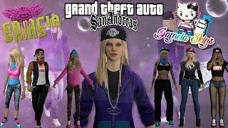 getlinkyoutube.com-1° PACK SKINS GIRLS HD By Gamcia GTA SAN ANDREAS FULL HD 1080p