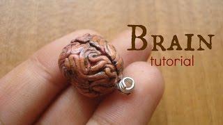 getlinkyoutube.com-Brain charm - polymer clay tutorial / arcilla polimérica