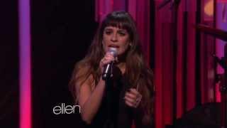 getlinkyoutube.com-Lea Michele singing 'Cannonball' on Ellen