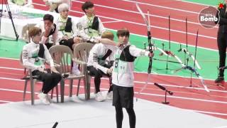 getlinkyoutube.com-[ENG SUB] [BANGTAN BOMB] BTS' Archery episode @ 2016 ISAC