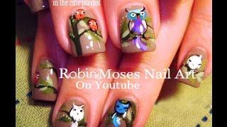 Easy Owl Nail Art Design! Cute DIY Bird Nails