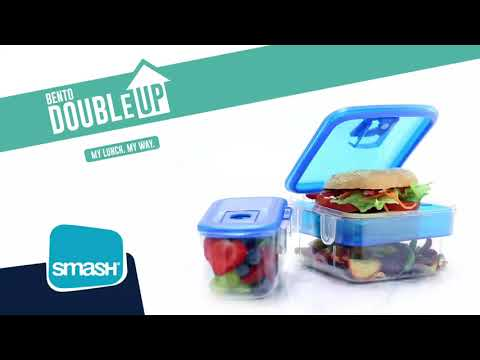 Smash Bento Double Up Lunch Box - Assorted*