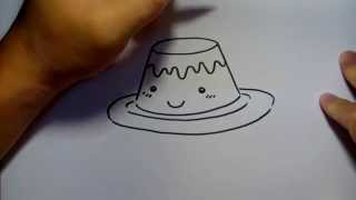 วาดการ์ตูน กันเถอะ สอนวาดรูป การ์ตูน พุดดิ้ง ง่ายๆ