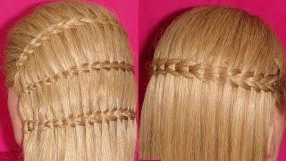 getlinkyoutube.com-Scissor Waterfall Braid  Hairstyle |  ViriYueMoon