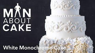 getlinkyoutube.com-(man about) White Monochrome Cake | Man About Cake