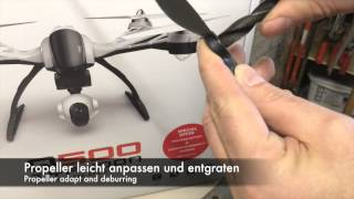 getlinkyoutube.com-Yuneec Q500 alternativ Propeller - Aeronaut 13x6