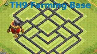 getlinkyoutube.com-Clash of Clans - Epic TH9 Farming Base With Air Sweeper Speed Build
