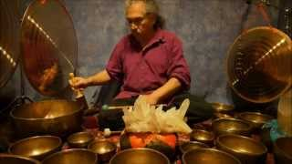 getlinkyoutube.com-Crystal Chakra Meditation with Antique Tibetan Singing Bowls