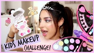getlinkyoutube.com-KIDS MAKEUP CHALLENGE⎮ Je teste le maquillage d'enfants !