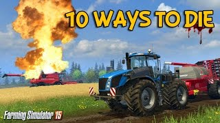 getlinkyoutube.com-10 ways to die in Farming Simulator 15