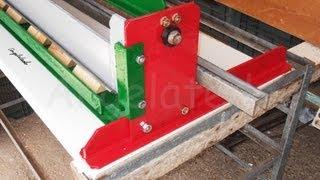 getlinkyoutube.com-Plegadora o dobladora de chapa casera, de guillotina  manual (3/5) Construcción