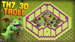 getlinkyoutube.com-Clash of Clans | TH7 3D Troll Base | The Palace | + CoC Funny Defense Replays [2016 New Update]