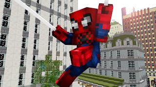 getlinkyoutube.com-One day as Spiderman ! - Craftronix Minecraft Animation