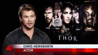 getlinkyoutube.com-Hemsworth Beefs Up for 'Thor'