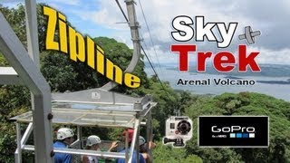 getlinkyoutube.com-Zipline Sky Trek: Arenal National Park, Costa Rica - GoPro Hero2