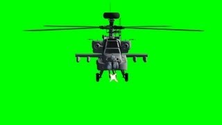 getlinkyoutube.com-Apache AH 64 Helicopter fire with machine gun on green screen - free green screen