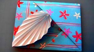 getlinkyoutube.com-How to make an Origami Leaf Card