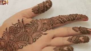 getlinkyoutube.com-Easy Simple Beautiful Indo Arabic Mehndi Design For Palm:Learn Henna Hold Hands By MehndiArtistica