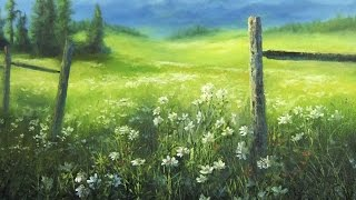 getlinkyoutube.com-Flower Meadow | Paint with Kevin Hill art