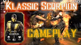 getlinkyoutube.com-MKX Klassic SCORPION Gameplay [Limited edition booster pack] MKX mobile iOS/Android 1.6.1 update